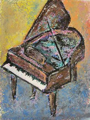 Painting - Piano Study 2 by Anita Burgermeister