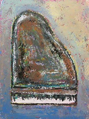 Grand Piano Painting - Piano Study 6 by Anita Burgermeister