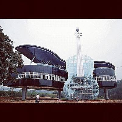 Piano Photograph - Piano Violin House In China. #piano by Ben Armstrong
