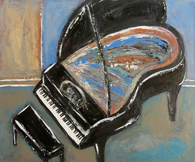 Painting - Piano With Spiky Heel by Anita Burgermeister