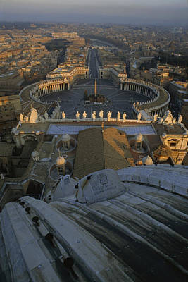 Piazza San Pietro As Seen From The Dome Art Print by James L. Stanfield