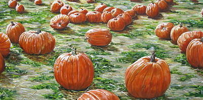Picking Pumpkins Painting - Pick Me by Christine Rotolo