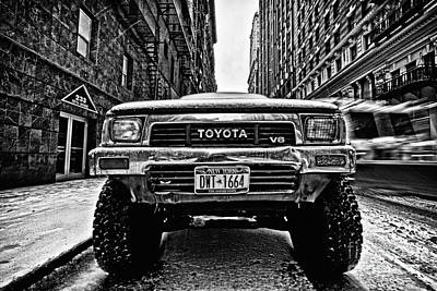 Pick Up Truck On A New York Street Art Print by John Farnan