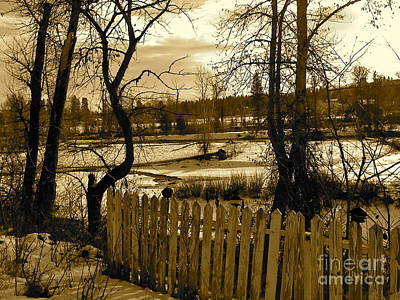 Photograph - Picket Fence by KD Johnson