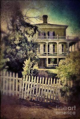 Picket Gate To Large House Print by Jill Battaglia