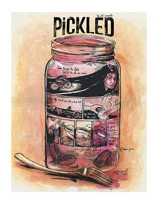 Pickled Art Print by Nik Garvoille