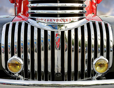 Photograph - Pickup Chevrolet Front View. Miami by Juan Carlos Ferro Duque