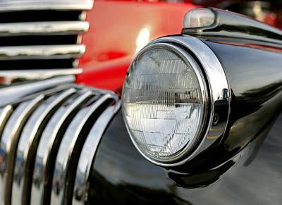 Photograph - Pickup Chevrolet Headlight. Miami by Juan Carlos Ferro Duque