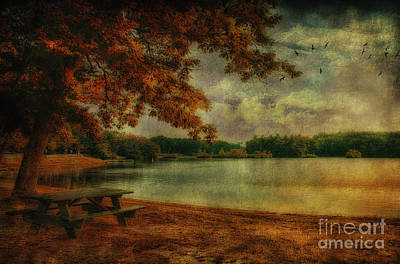Photograph - Picnic By The Lake by Gina Cormier