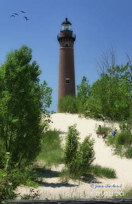 Art Print featuring the photograph Picnic By The Lighthouse by Joan Bertucci