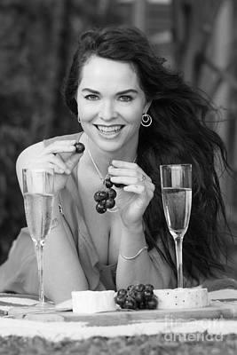 Beautiful Woman Photograph - Picnic by Johan Larson