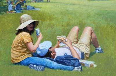 Painting - Picnic Lunch by Mel Greifinger