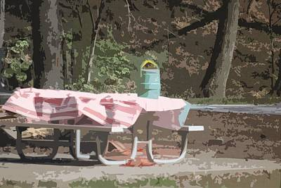 Photograph - Picnic Table by Donna  Smith