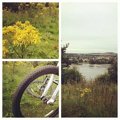 Cycling Photograph - #picstitch #cycle #exercise #bike #loch by Grace Shine