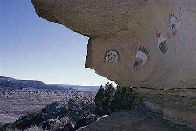 Zuni Photograph - Pictographs On Rock Wall, Zuni by David Edwards
