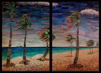Recycled Mixed Media - Picturesque Fort Lauderdale Beach by Desiree Soule