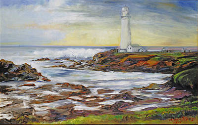 Painting - Pidgeon Point Lighthouse by Max Mckenzie