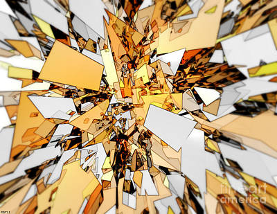 Print featuring the digital art Pieces Of Gold by Phil Perkins