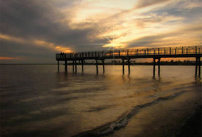 Art Print featuring the photograph Pier  by Cindy Haggerty