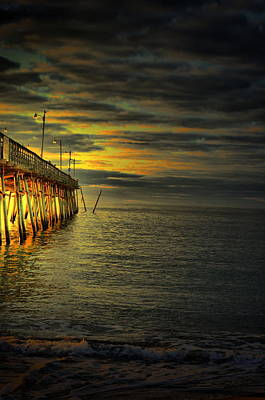 Photograph - Pier Illuminated by Emily Stauring