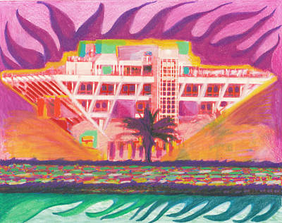 Pier In The Pink Art Print by Sheree Rensel