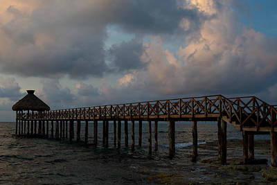 Photograph - Pier Into Dawn by Barry Doherty