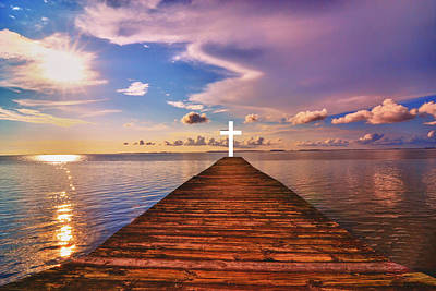 Photograph - Pier Into Heaven by Kelly Reber