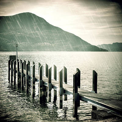Rain Cloud Photograph - Pier by Joana Kruse