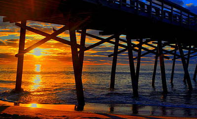 Photograph - Pier Of Sunrise by Emily Stauring