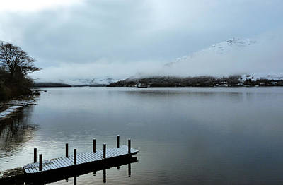 Art Print featuring the photograph Pier On The Loch by Lynn Bolt