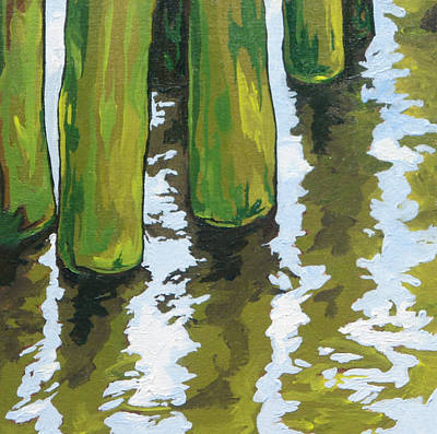 Painting - Pier Reflections by Sandy Tracey