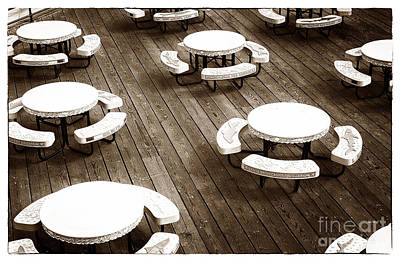 Photograph - Pier Tables by John Rizzuto