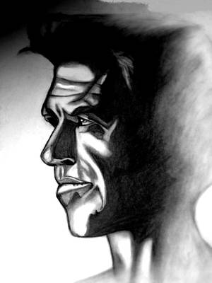 Steele Drawing - Pierce Brosnan by Herbert Renard