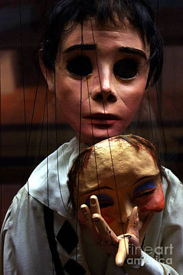 Puppet Photograph - Pierrot Puppet by Mona Edulesco