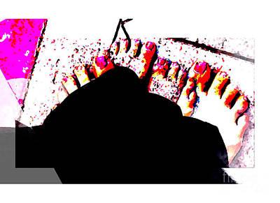 Shakira Digital Art - Pies Descalzos by San Juanita Alvarado De Vega