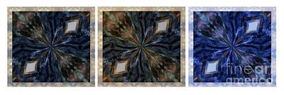 Pietersite Gemstone Mandala - 2 -triptych Art Print