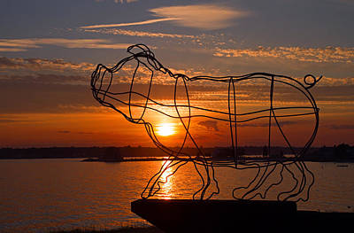 Photograph - Pig Iron Sunset by David Freuthal
