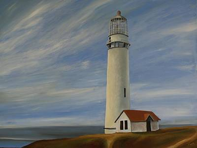 Painting - Pigeon Point  Lighthouse by Robert Foss