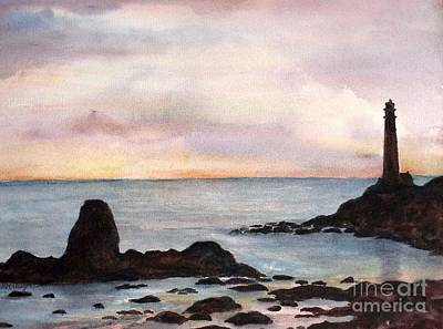 Painting - Pigeon Point Lighthouse by Suzanne Krueger