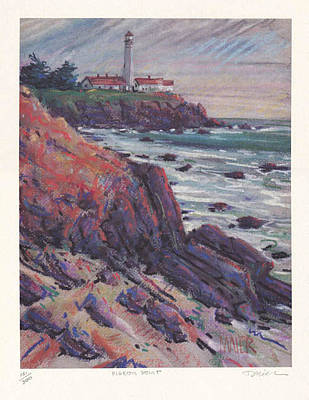 Limited Edition Painting - Pigeon Point Print by Donald Maier