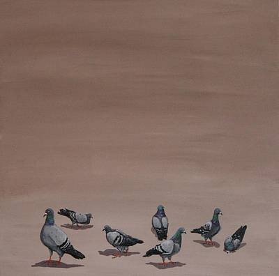 Painting - Pigeons by Jennifer Lynch