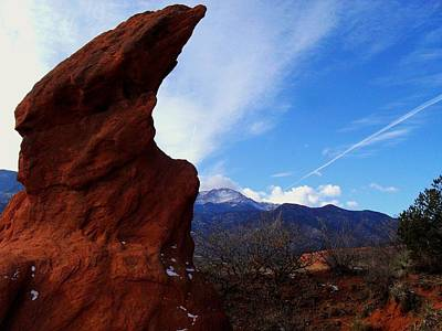 Photograph - Jut Rock Over Pikes Peak by Clarice  Lakota