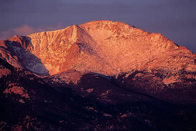 Photograph - Pikes Peak Early Morning by John Brink