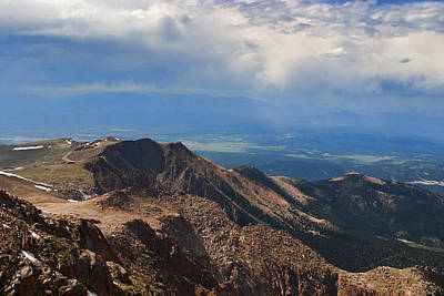 Cloud Photograph - Pikes Peak Road To The Summit by Gregory Scott