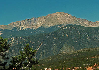 Photograph - Pikes Peak by T Guy Spencer