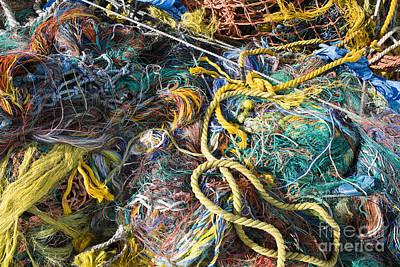 Pile Of Fishing Nets, Fishermans Terminal, Seattle, Wa Art Print by Paul Edmondson