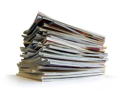 Article Photograph - Pile Of Magazines by Carlos Caetano