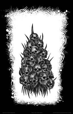 Tonykoehl Wall Art - Mixed Media - Pile Of Skulls by Tony Koehl