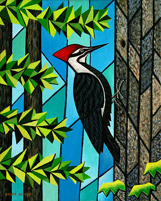 Pileated Woodpecker Painting - Pileated Woodpecker by Bruce Bodden