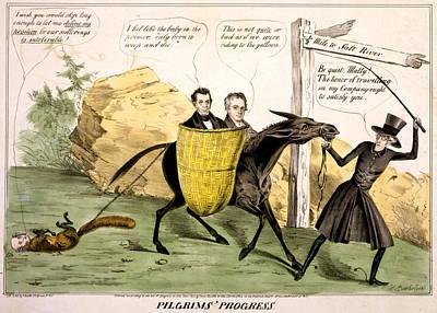 Pilgrims Progress, Showing Ex-president Print by Everett